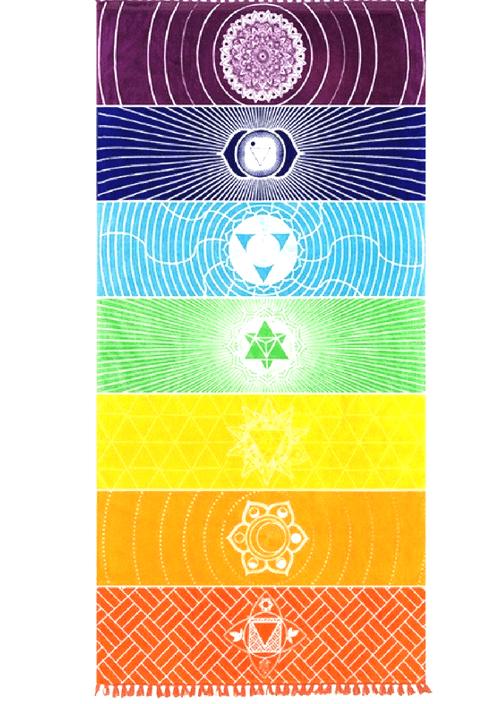 808 Wellness 7 Chakra Tapestry Maui